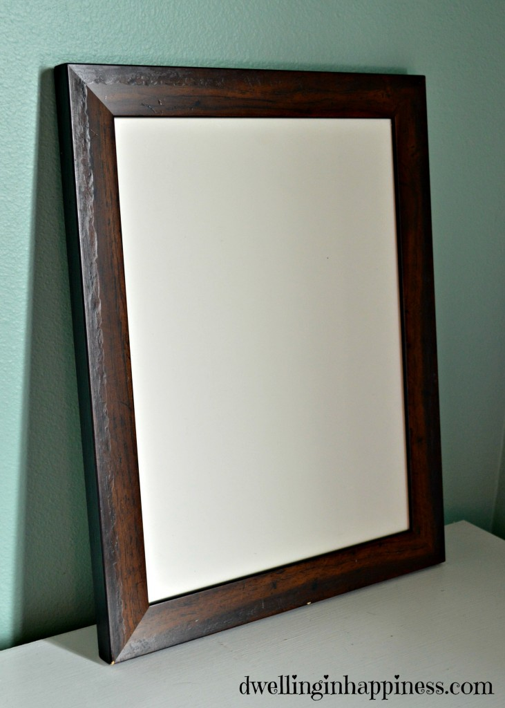Before white board frame