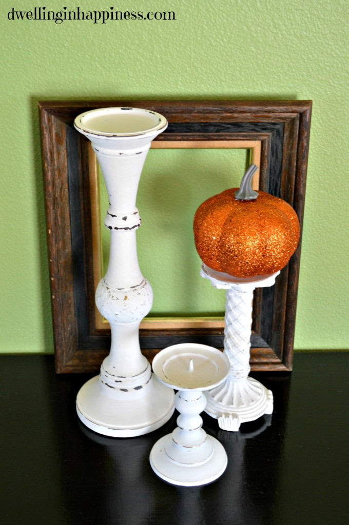 Candle holder & pumpkin2