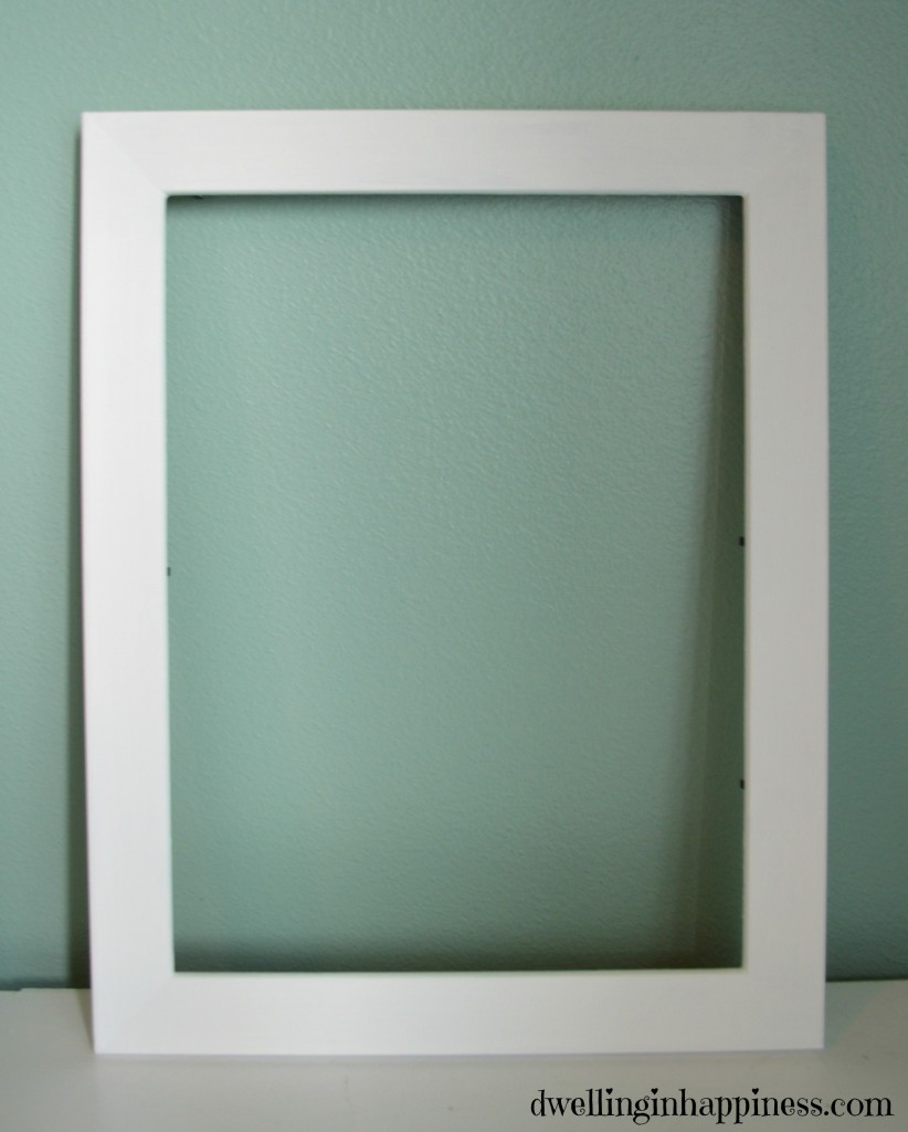 Frame painted chalk paint