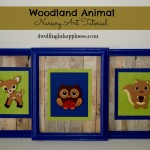 Woodland Animal Nursery Art Tutorial
