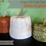 Easy DIY Fall Decor: Basket Pumpkins