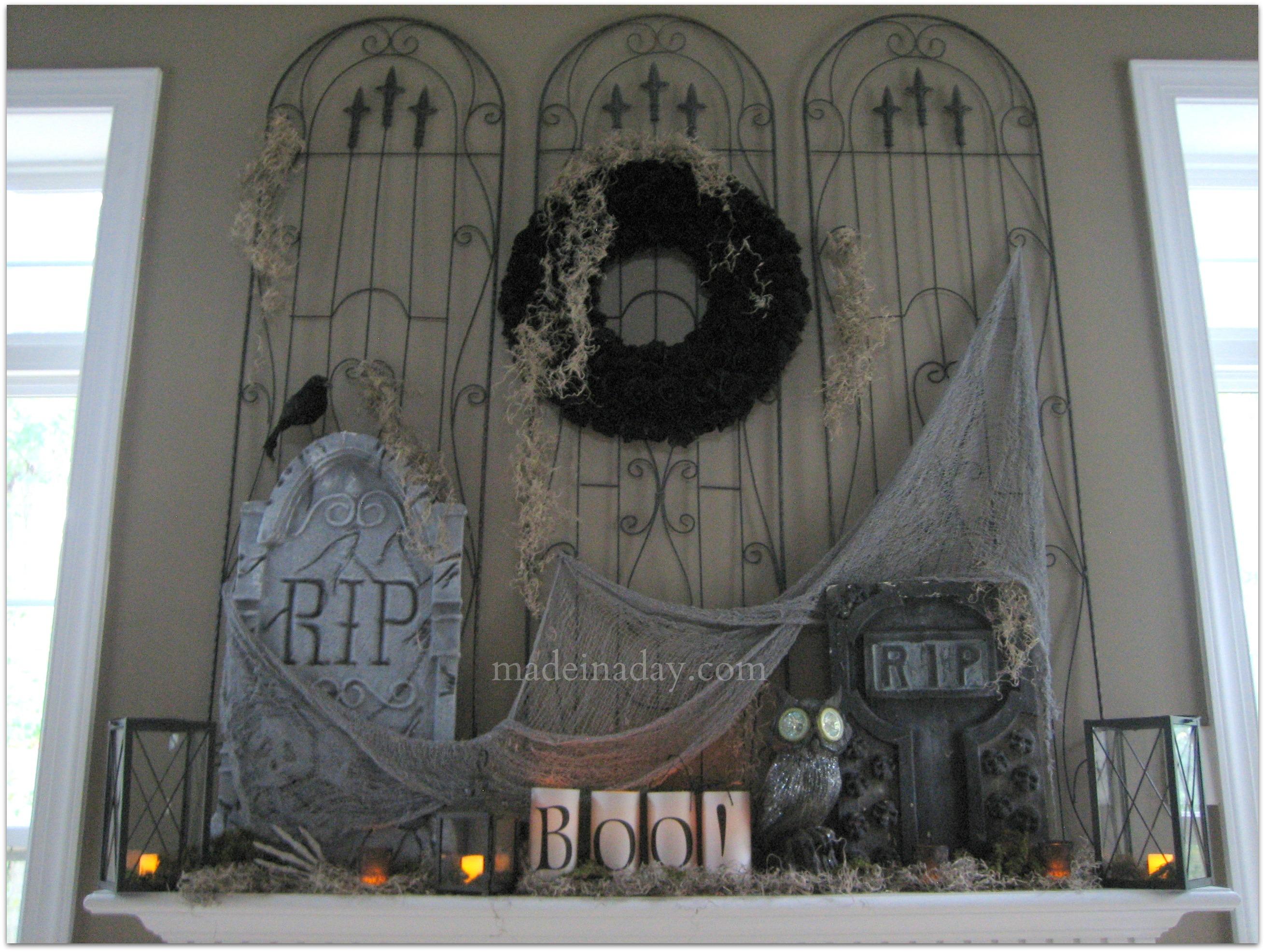24 Spooktacular Halloween Mantels And Vignettes Dwelling