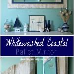 Whitewashed Coastal Pallet Mirror