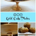DIY Gold Cake Plates