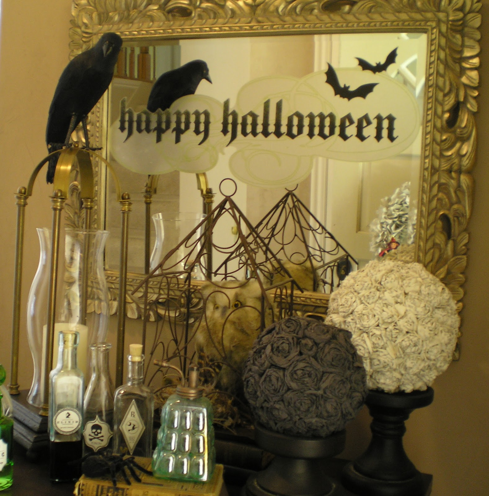 Creative Halloween Decorations Indoor.24 Spooktacular Halloween Mantels And Vignettes Dwelling
