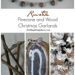 Rustic Pinecone and Wood Christmas Garlands