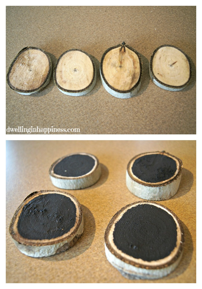 Wood slice collage