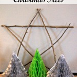 Easy Honeycomb Christmas Trees