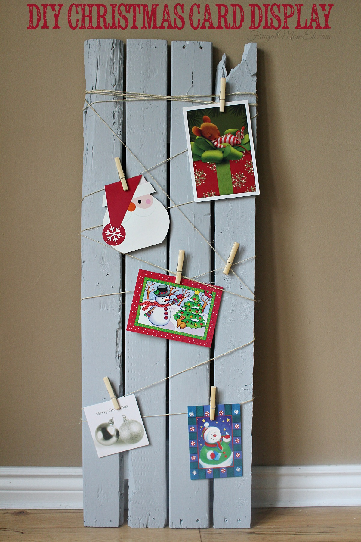 10 Unique Ways to Display your Christmas Cards