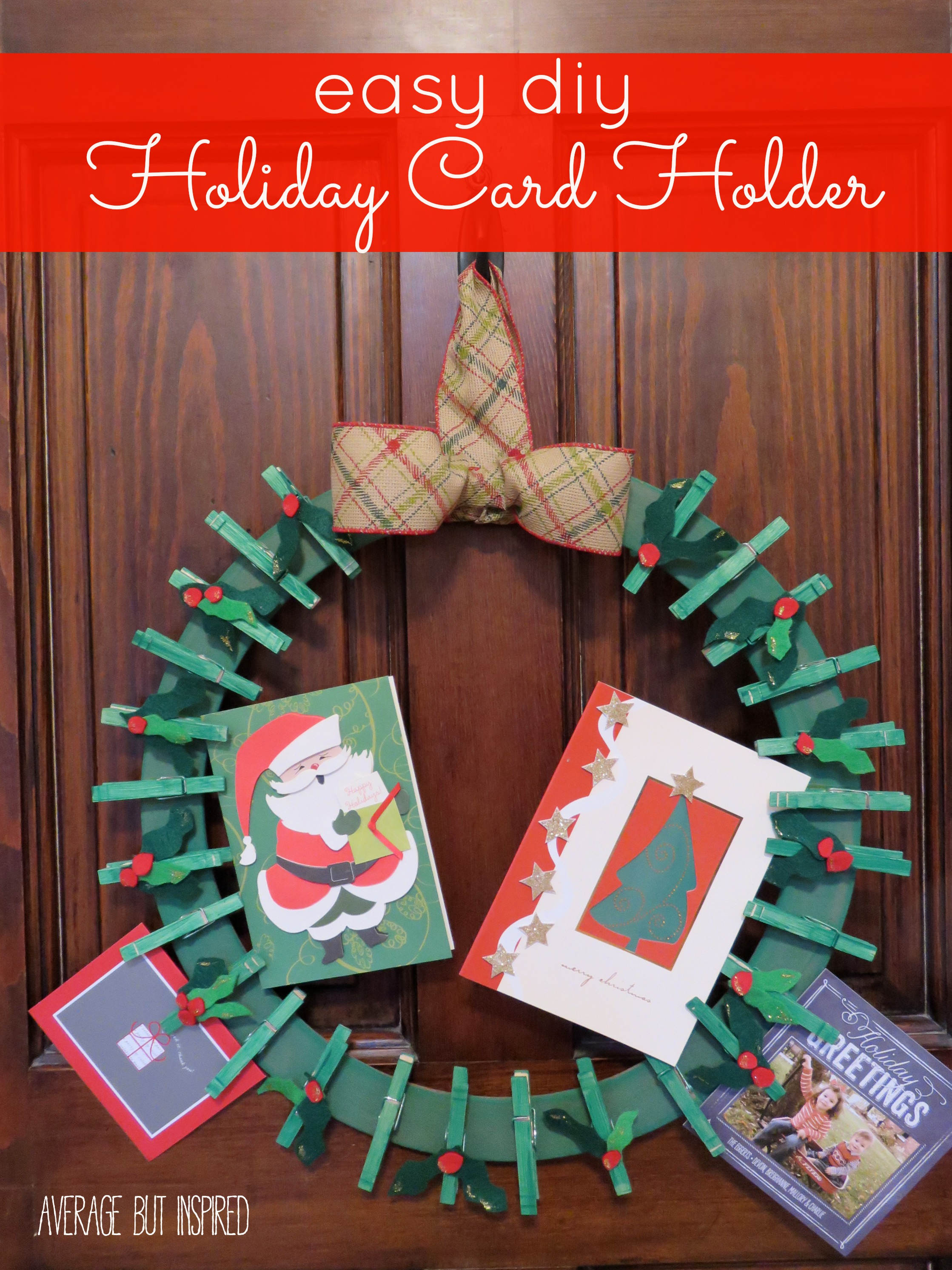 10 unique ways to display your christmas cards easy diy holiday card holder m4hsunfo