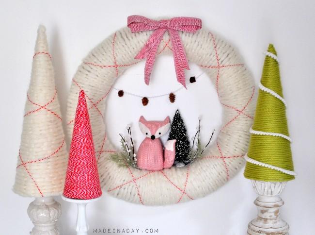 Fox-Wreath-and-Easy-Yarn-Trees-madeinaday.com_-650x484