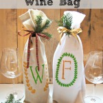 No-Sew Monogrammed Wine Bag