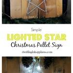 Simple Lighted Star Christmas Pallet Sign