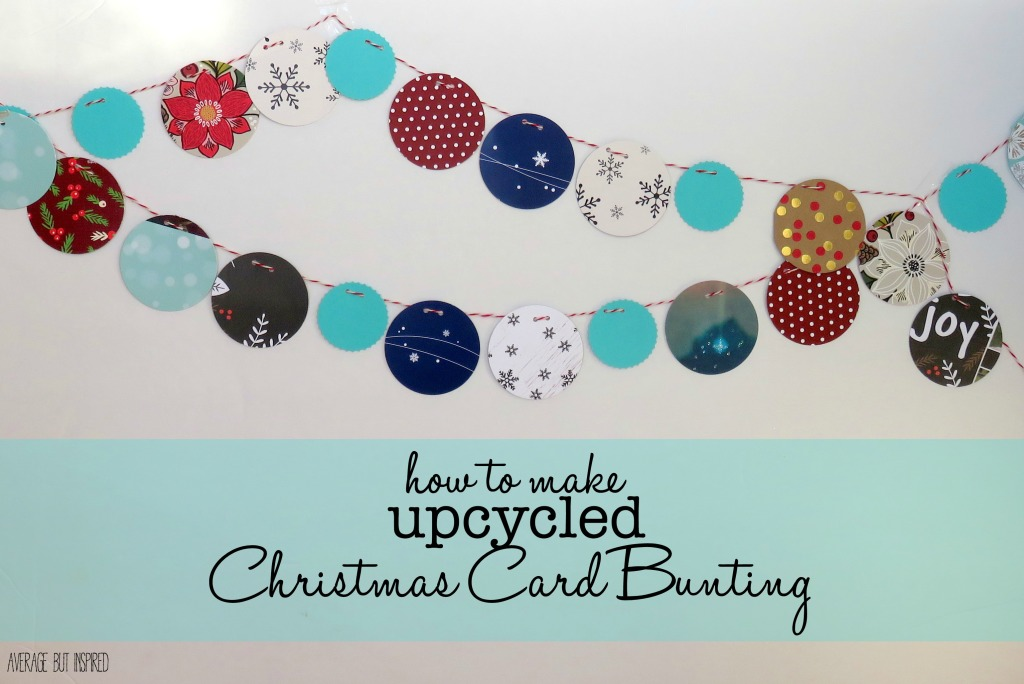 Upcycled-Christmas-Card-Bunting