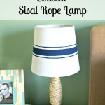 DIY Coastal Sisal Rope Lamp