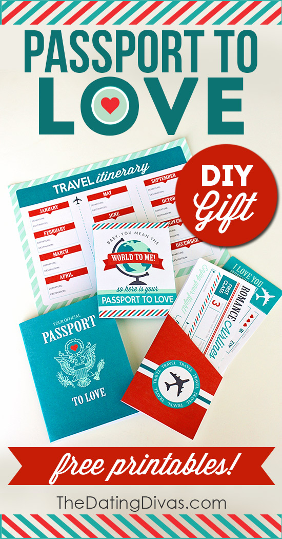 passport to love diy romantic gift
