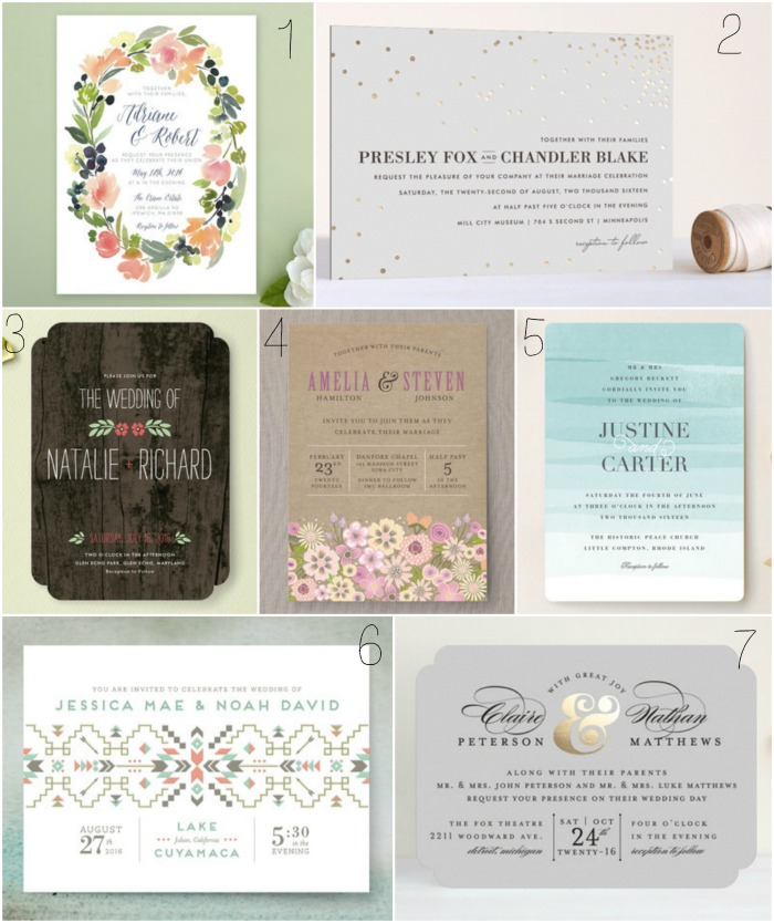Wedding Invitation Collage