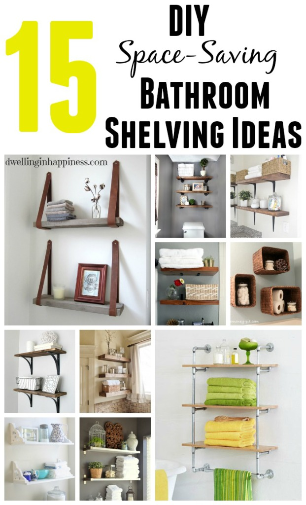15 Bathroom Shelving Ideas