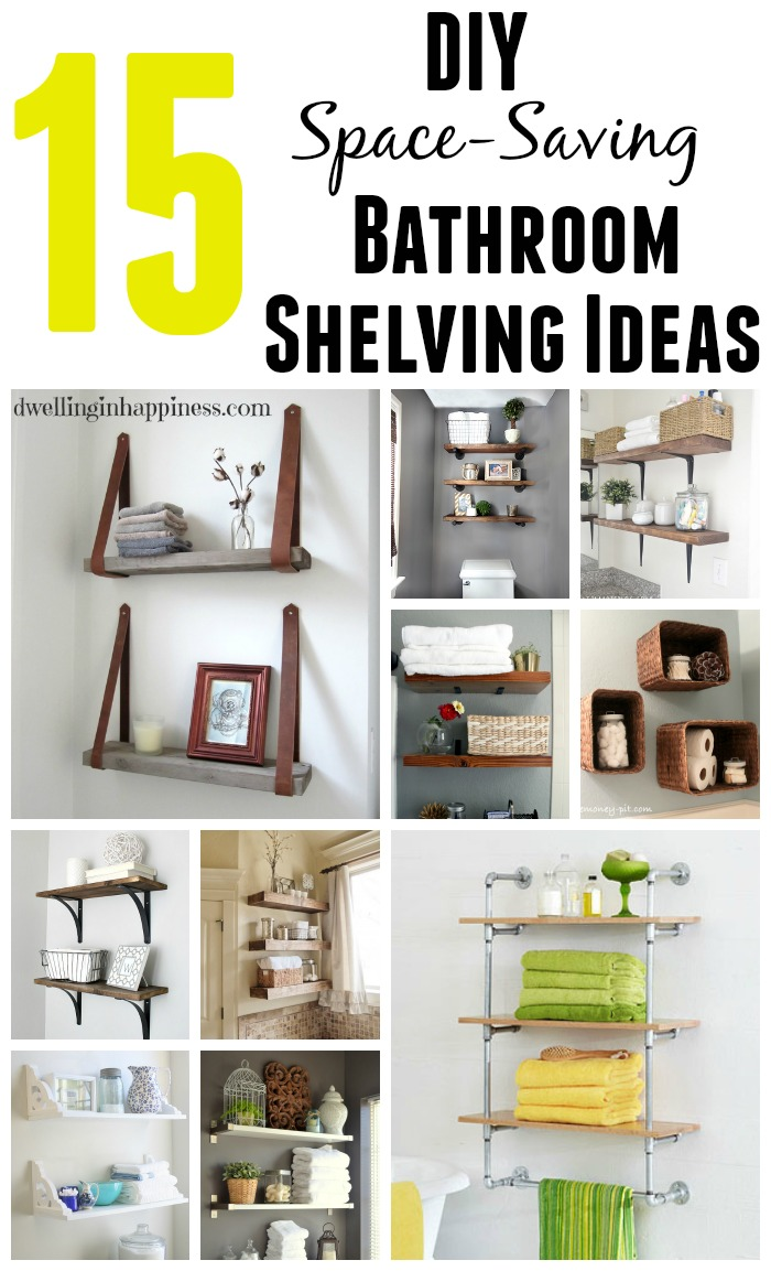 15 diy space saving bathroom shelving ideas for Bathroom designs diy
