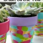 DIY Brush Stroke Pots