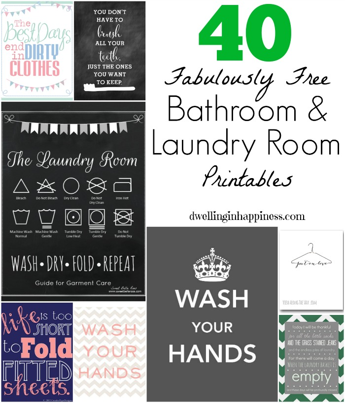 picture about Free Printable Laundry Room Signs identified as 40 Fabulously Free of charge Lavatory Laundry Area Printables