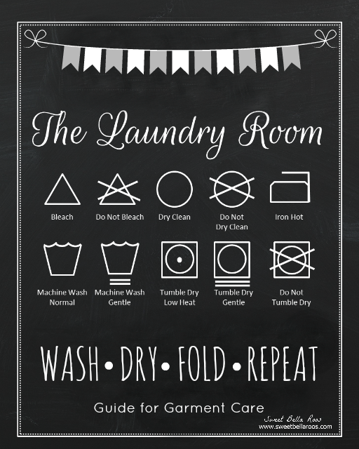 photograph relating to Free Printable Laundry Room Signs identified as 40 Fabulously Totally free Lavatory Laundry Space Printables