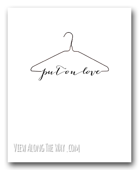 put_on_love_hanger_printable