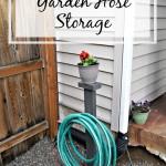 DIY Garden Hose Storage