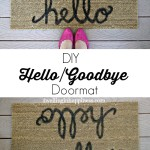 DIY Hello/Goodbye Doormat