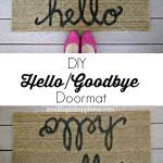DIY Hello/Goodbye Doormat