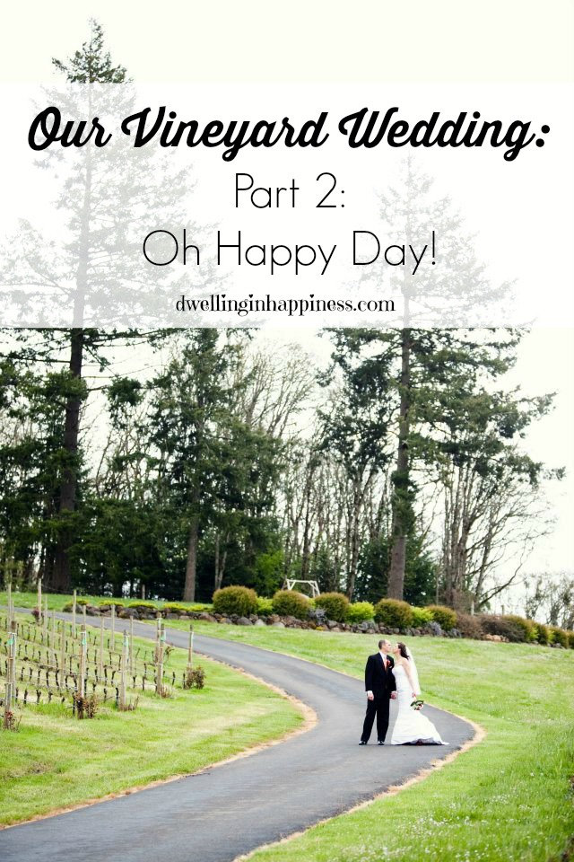 Our Vineyard Wedding Part 2 Oh Happy Day!