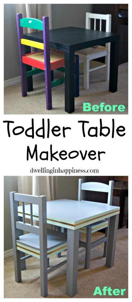 Toddler Table Makeover by Dwelling in Happiness