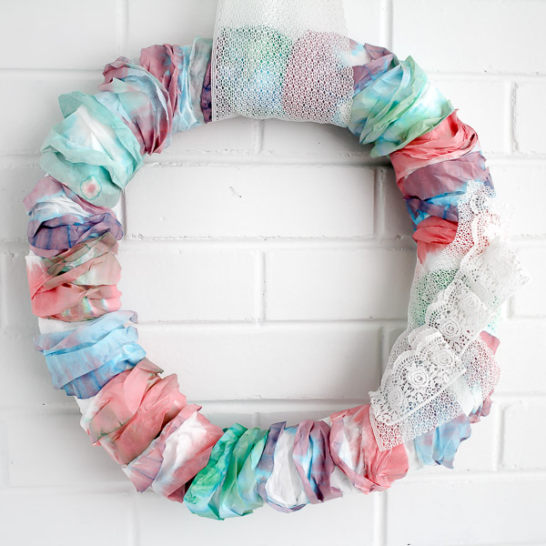 Water Color Wreath SQUARE
