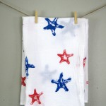 Starfish Stamped Patriotic Tea Towels