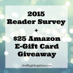 2015 Reader Survey + $25 Amazon E-Gift Card Giveaway!