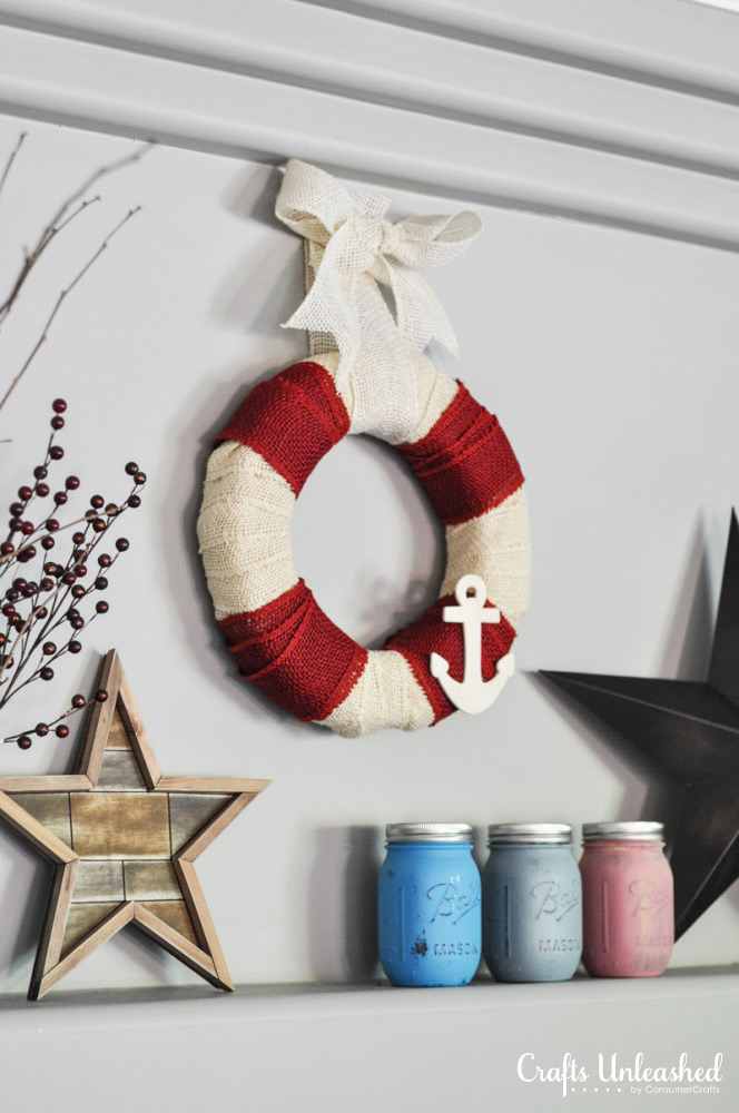 5-Minute-Nautical-DIY-burlap-wreath-summer-Crafts-Unleashed-3