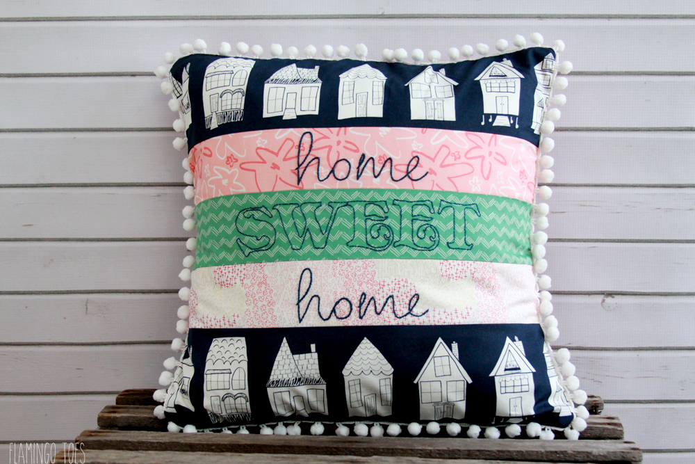 Happy-Home-Fabric-Pillow
