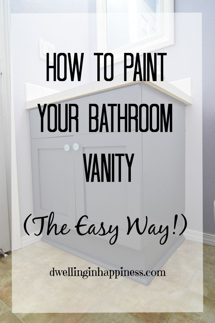 Easy Way To Contour Your Face: How To Paint Your Bathroom Vanity (The Easy Way