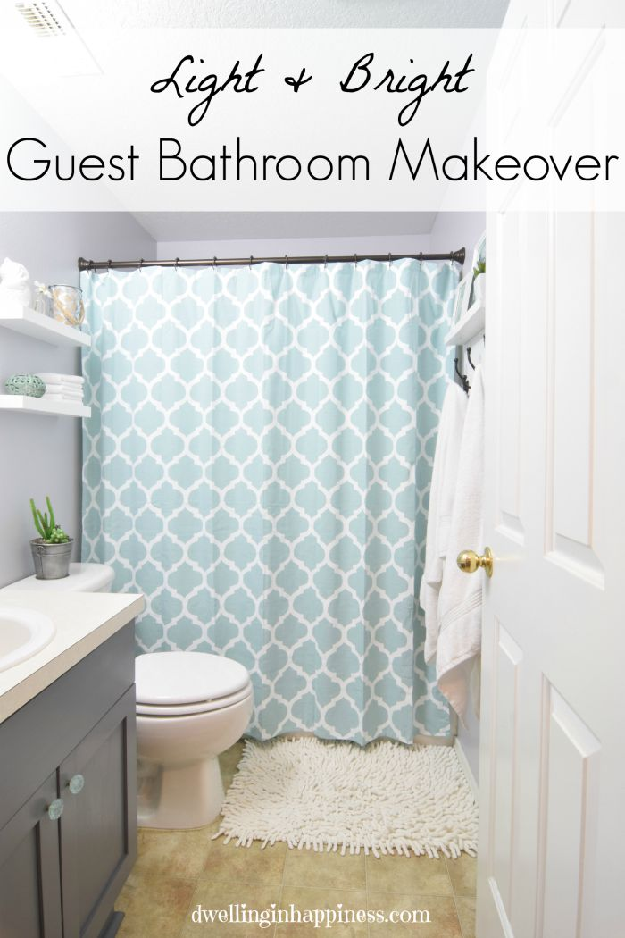 light bright guest bathroom makeover such an incredible transformation of a small bathroom space - Bathroom Makeover