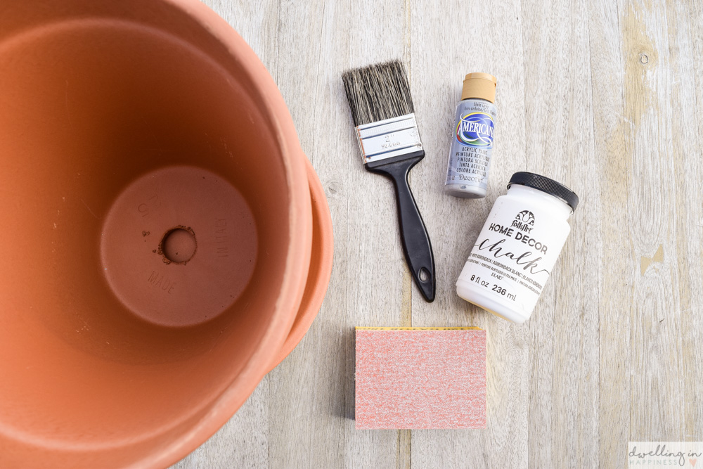 How to Easily Distress and Age Terra Cotta Pots - Dwelling