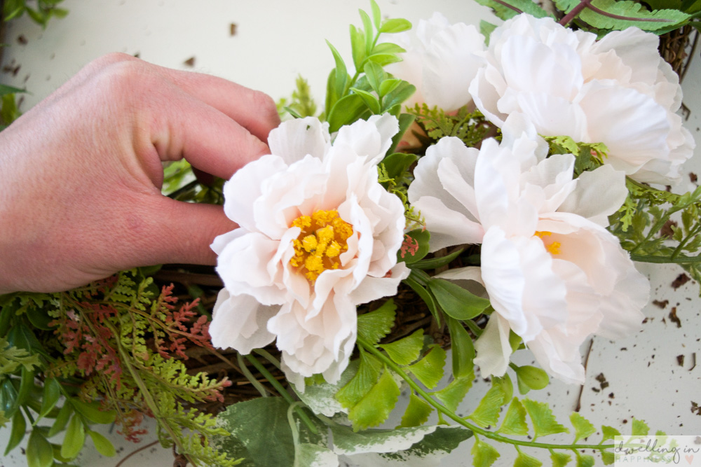 How to Make the Easiest Spring Wreath Ever | Dwelling in Happiness