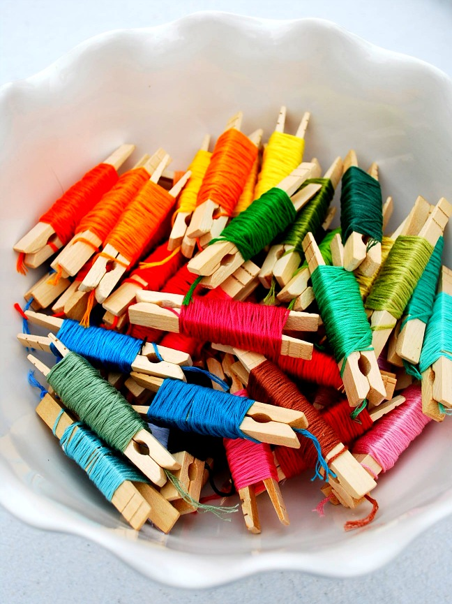 20 Inexpensive Diy Ways To Organize Your Craft Supplies Dwelling In Happiness