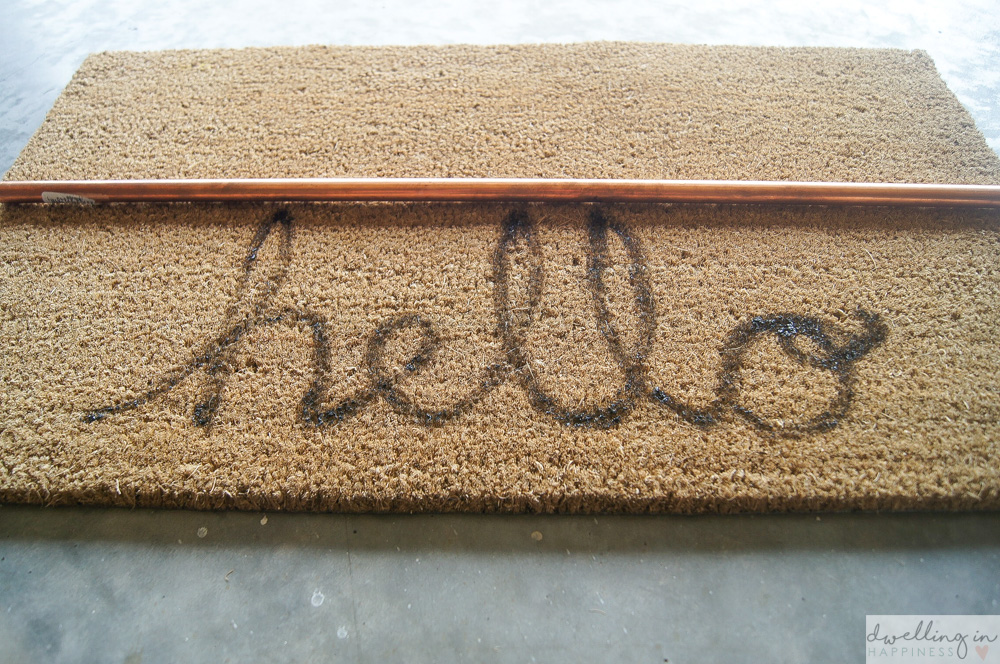 "DIY ""Hello/Goodbye"" Doormat // Dwelling in Happiness"