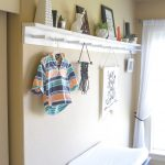 How to Make a Modern Peg Rail with a Shelf