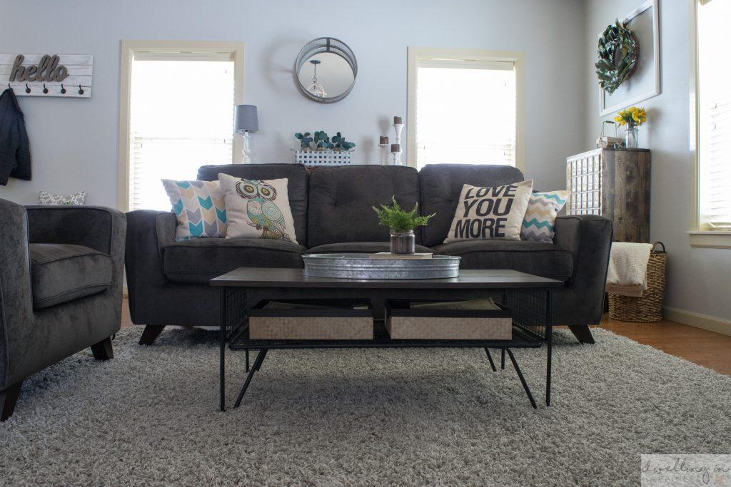 An Industrial Farmhouse Living Room Refresh