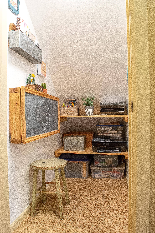 How To Transform A Storage Closet Mini Home Office
