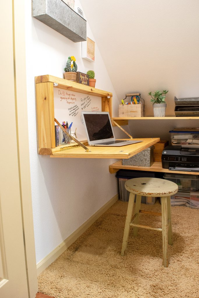 How to Transform a Storage Closet to a Mini Home Office - Dwelling in Happiness