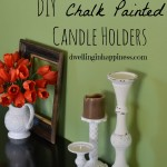 DIY Chalk Painted Candle Holders