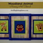 Woodland Animal Nursery Art Tutorial