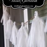 $1 Ghost Tassel Garland